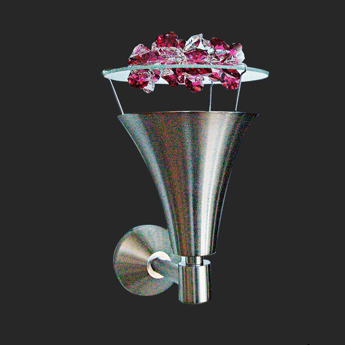 Handmade Wall Light Fixture Swarovski Ice Crystals Cone