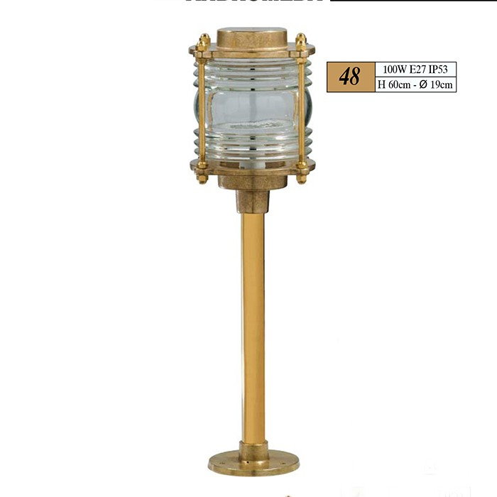 Outdoor Brass Cage Column Light A55 48