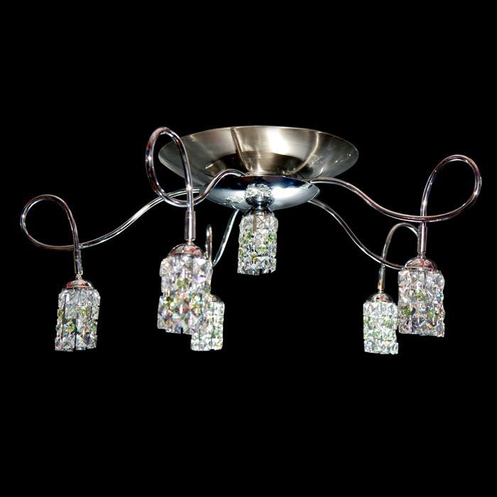 ceiling light fixture chandelier zic swarovski crystals 29042 6906 06. Black Bedroom Furniture Sets. Home Design Ideas