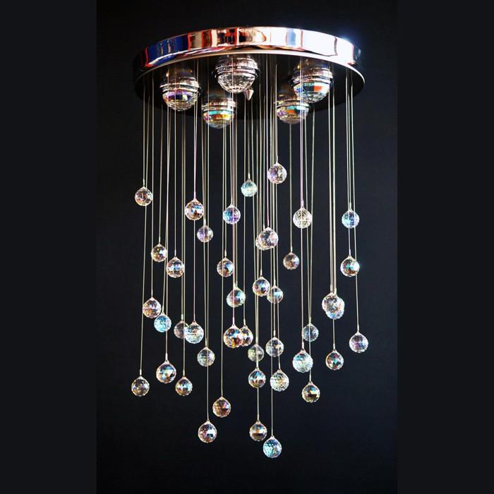 handmade ceiling fixture chandelier crist color swarovski crystals 35150 6965 22. Black Bedroom Furniture Sets. Home Design Ideas