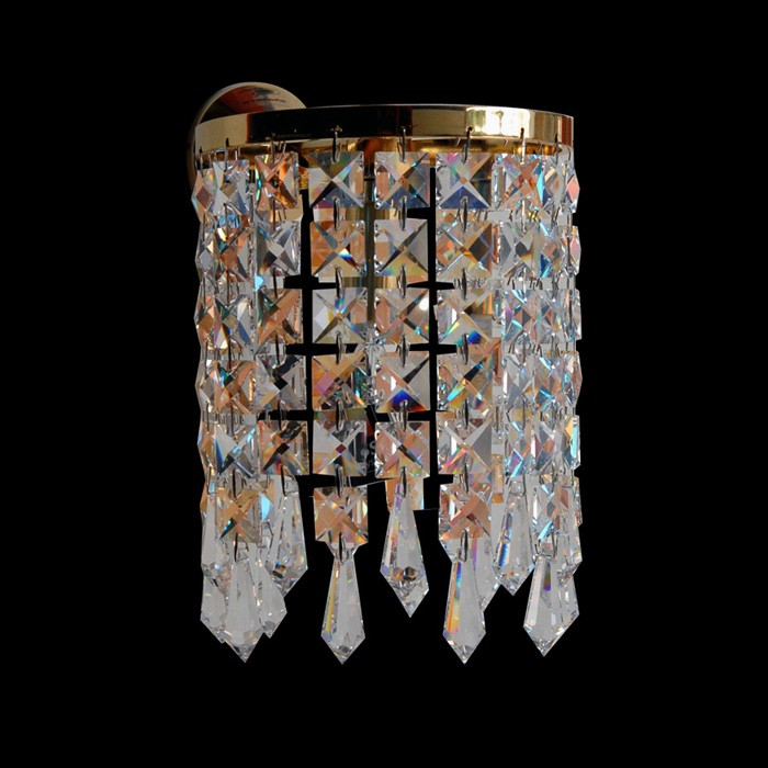 handmade wall fixture luminaire sis swarovski crystals 53325 0401 02. Black Bedroom Furniture Sets. Home Design Ideas