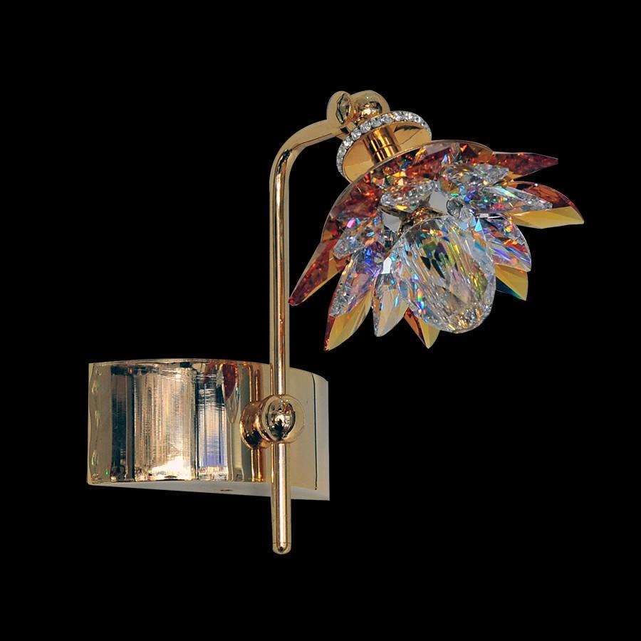 handmade wall fixture luminaire nufaro2 swarovski crystals 53478 0421 24. Black Bedroom Furniture Sets. Home Design Ideas