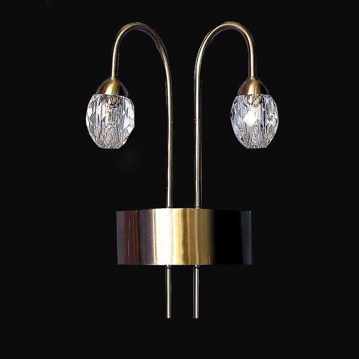 Handmade Wall Light Fixtures : Handmade wall light fixture swarovski crystal acc
